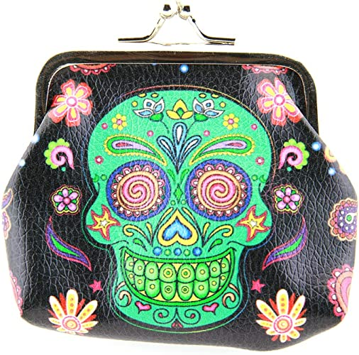 Day of the Dead inspired Coin bag coin purse  Handmade Handbag Accessories