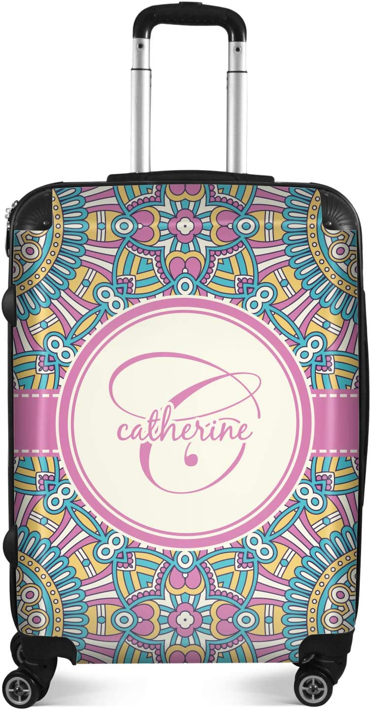Bohemian Art Suitcase Personalized 20 Carry On