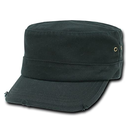 59780601a4b Amazon.com  Decky Orgianl Vintage G.I. Caps - BLACK - S   M -  Clothing