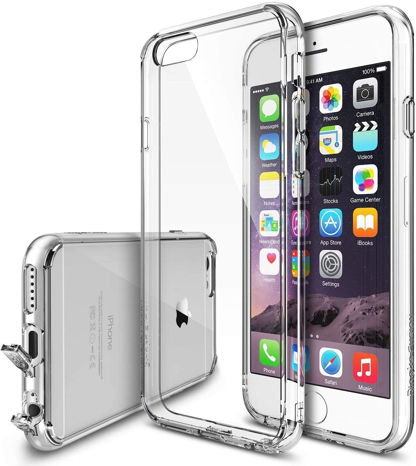 Ringke Fusion Compatible with iPhone 6S, iPhone 6 Case, Transparent Shockproof Protective Bumper Cover - Clear
