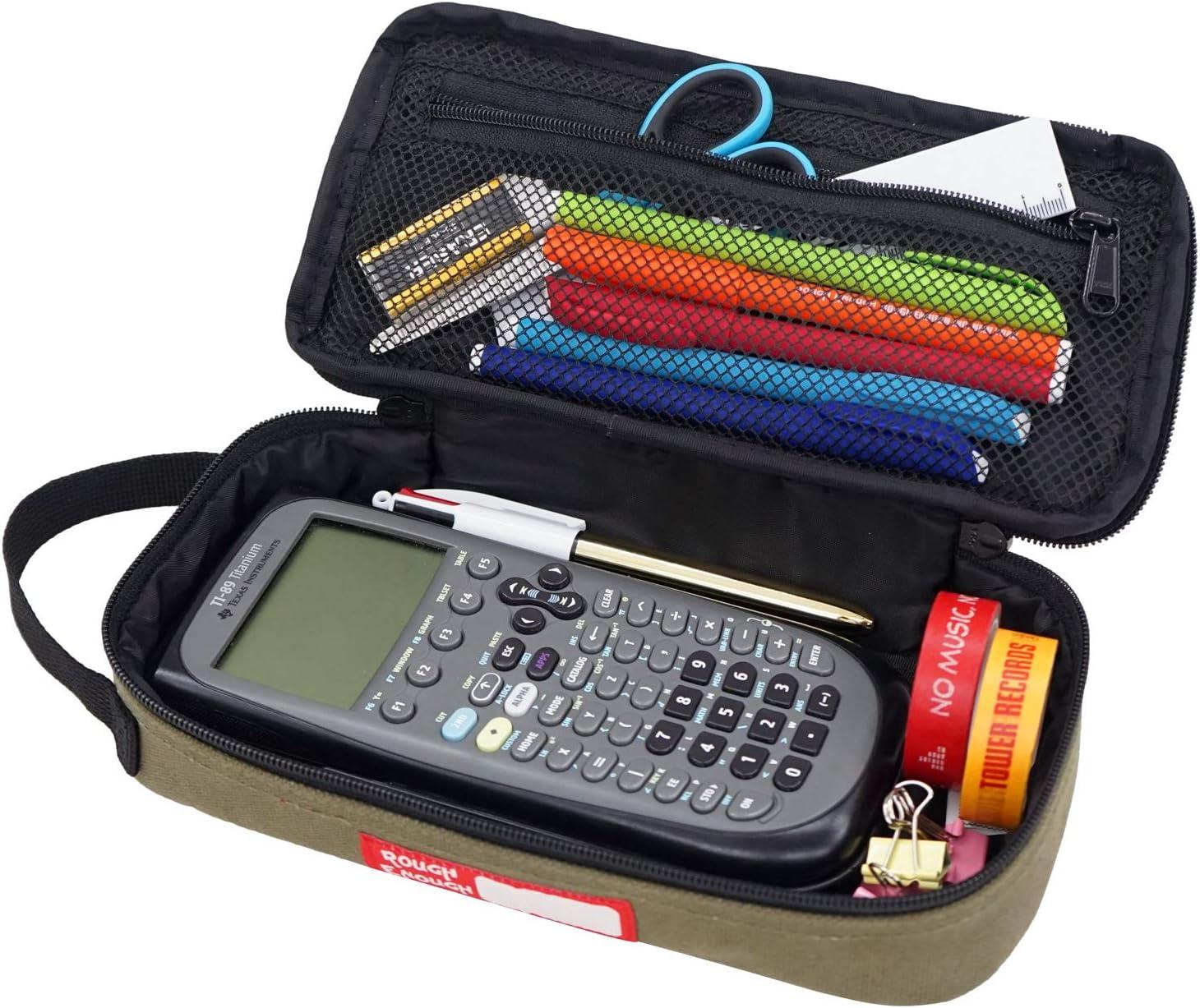 Rough Enough Mesh Pen Case Adaptor Pouch Set Black by ROUGH ENOUGH