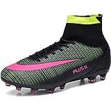 Aleader Men's Football Training Shoes Outdoor Soccer Boots Black 9 UK