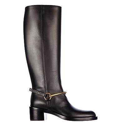 418e333813b Gucci Bottes Femme en Cuir lifford Noir EU 37 353794A3N001000 ...