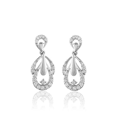 5b1b94f1d Buy Carats For You 950 Platinum and Diamond Stud Earrings Online at Low  Prices in India | Amazon Jewellery Store - Amazon.in