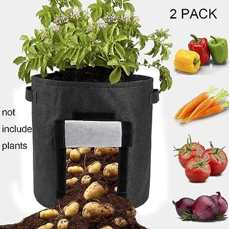 2 bolsas de cultivo de patata, 55 L/15 galones, bolsa de ...