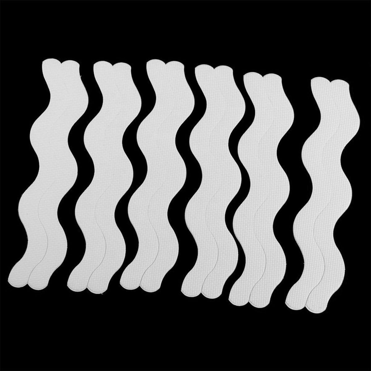 WINOMO 48pcs Reticolo di Onda di Antiscivolo Strisce Adesivi per Bagno Doccia Sdesivo Bianco