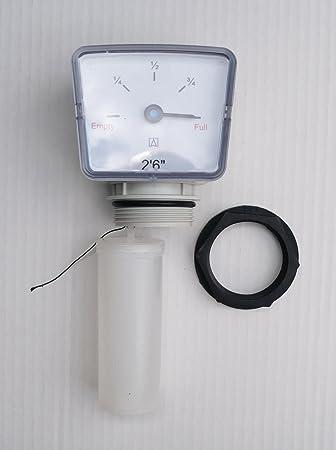 Flotador Calibre para combustible/aceite de depósitos de agua. 2 pies 6 pulgadas: Amazon.es: Jardín
