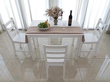 Dakea Juego de Mesa Grupo Juego de Comedor con 4 sillas ...
