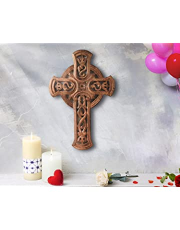 Beads & Jewelry Making Ya.x Wooden Cross Iglesia Reliquias Crucifijo Jesucristo En El Soporte Cruz Crucifijo De La Pared Casa Antigua Capilla Decoració