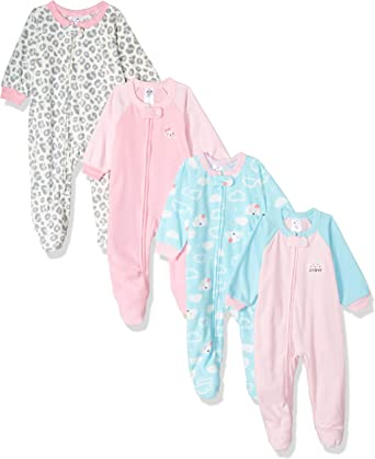 GERBER Girls Toddler 4-Pack Blanket Sleeper