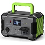 PAXCESS Portable Power Station 500W, 519Wh Solar Generator with MPPT, 12V Regulated Power Supply, 110V Pure Sine Wave AC Outl