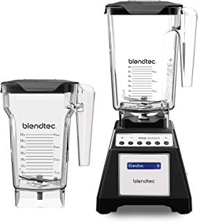 product image for Blendtec Total Classic Original Blender - WildSide+ Jar (90 oz) and FourSide Jar (75 oz) - Professional-Grade Power - 6 Pre-programmed Cycles - 10-speeds - Black
