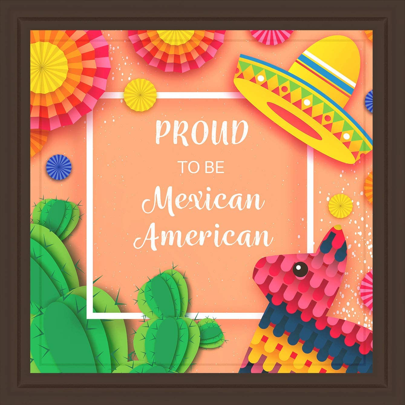 Amazon Com Mexican Gifts Fun 7x7 Tile Artwork For Mexican Home Decor For Grandparents Colorful Mexican Decor For Kitchen Great Present For Mexican American Friend Posters Prints