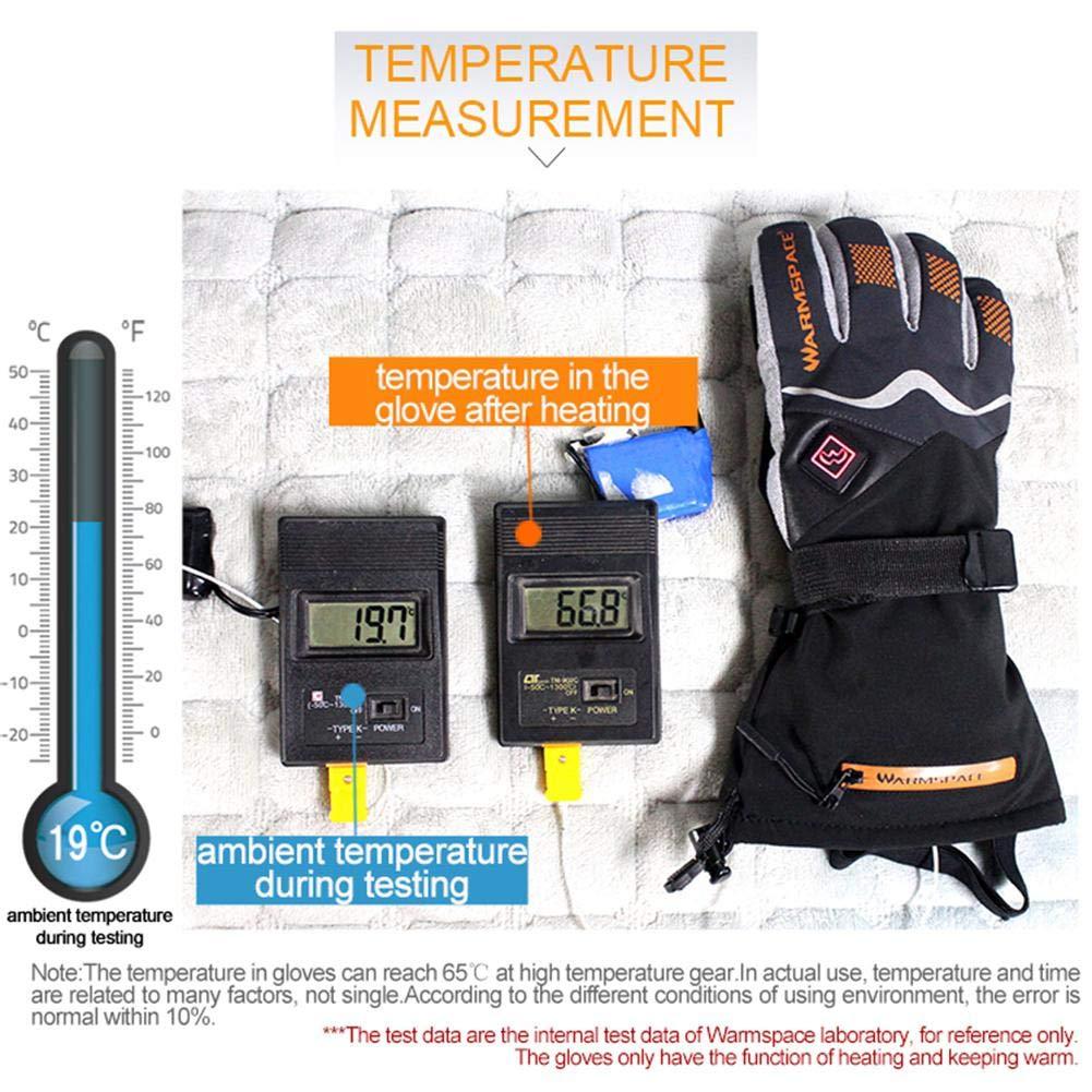 Gant /électrique Chauffant avec Batterie Rechargeable /à /écran Tactile /étanche /à leau Chaude Gants de contr/ôle de la temp/érature Thermique pour Hommes Femmes Moto en Plein air Ski dhiver