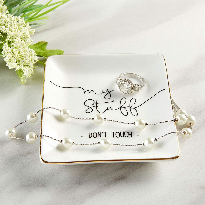 1, Mr /& Mrs Kate Aspen Ring Dish Jewelry Dish /& Trinket Tray
