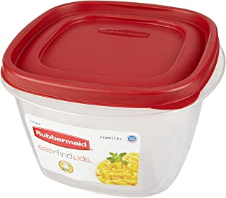 product image for Rubbermaid Easy Find Lids Square 7-Cup Food Storage Container (Pack of 3)