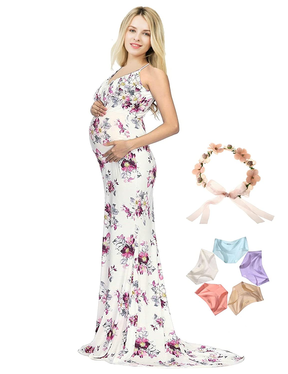 Sannyway Maternity Photography Slip Dress Sleeveless Pregnant Photoshoot Gown