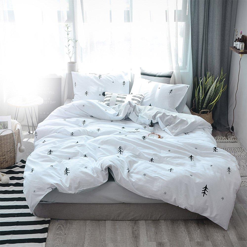 bulutu kids duvet cover twin cotton white grey premium boys girls bedding sets 8115525071748 ebay. Black Bedroom Furniture Sets. Home Design Ideas
