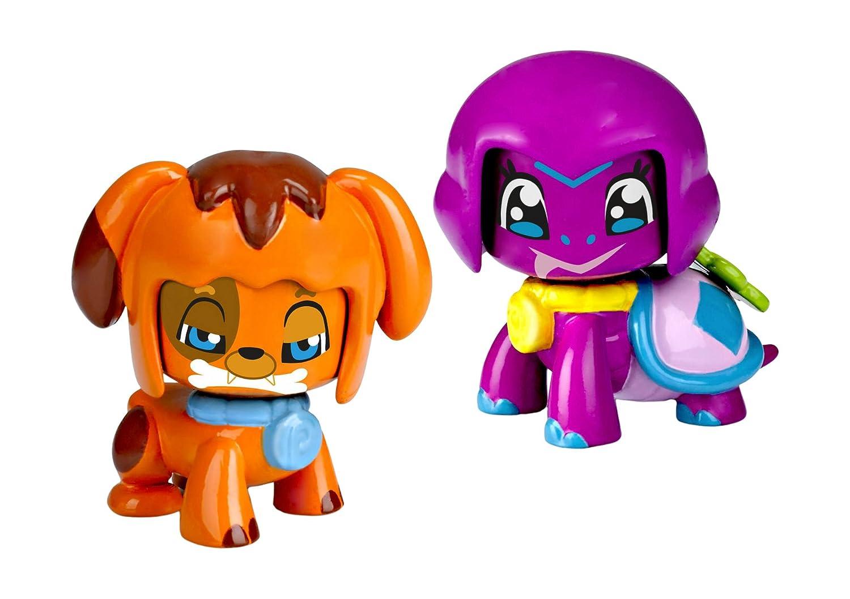 Pinypon–Set di 2 statuette di animaletti domestici: il cane e la tartaruga (Famosa 700012732A)