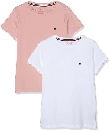 ad7993dea9000 Tommy Hilfiger 2P Tee SS T-Shirt, Multicolore (Rose Tan/White 022), 14 Ans  Fille: Amazon.fr: Vêtements et accessoires