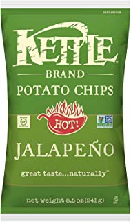 product image for Kettle Brand Potato Chips, Jalapeno, 8.5 Ounce Bags (Pack of 12)