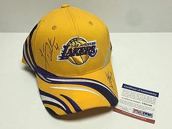 f5032f9a0 ... sweden luke walton jordan farmer signed lakers basketball hat cap  v63449 psa dna 95cf4 86d49