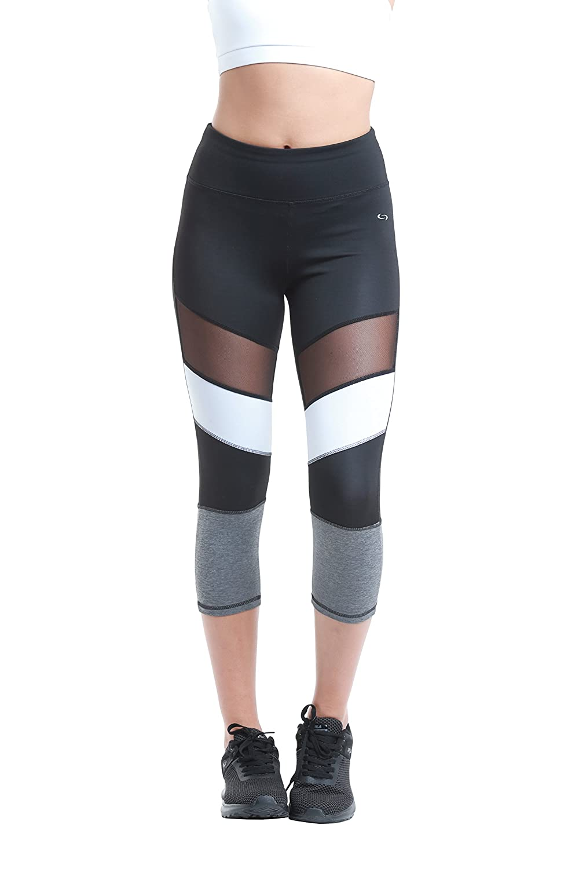 Black with White Spray Compliment Figure Sealmax Women Tights Leggings 7//8 Sport Gym Yoga 15369