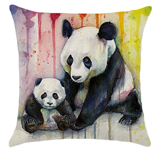 dssy Rainbow lino Cute Animal Patrón Panda gato manta funda ...