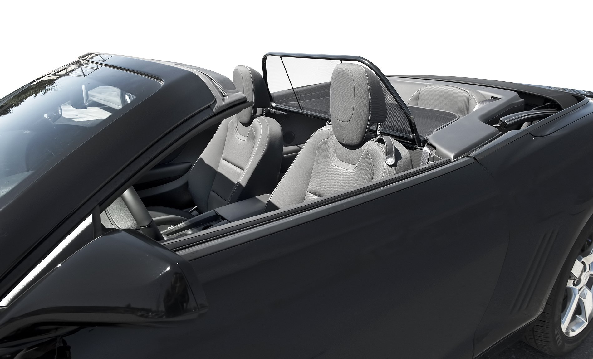 Camaro Convertible 2011 to 2015 Love The Drive™ Wind Deflector Also Known As: Wind Screen, Windscreen, Windstop and Wind Blocker