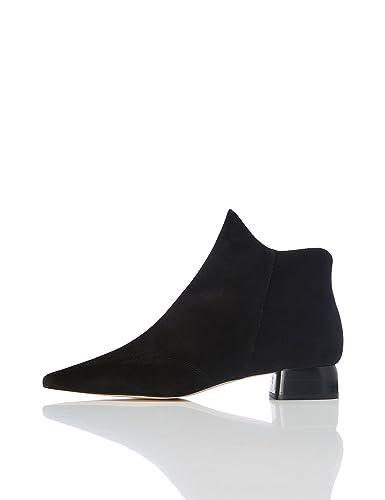 FIND Damen Knöchelhohe Stiefel mit Spitzer Front