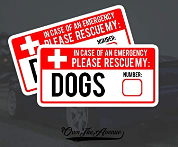 OwnTheAvenue First Aid Kit Fire Extinguisher Sticker Decal Emergency Safety Inside