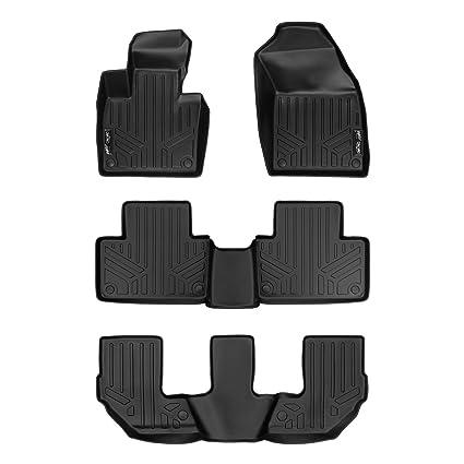 Max Liner Custom Fit Floor Mats 3 Row Liner Set Black For 2016 2019 Volvo Xc90 No Plug In Hybrid Models Black