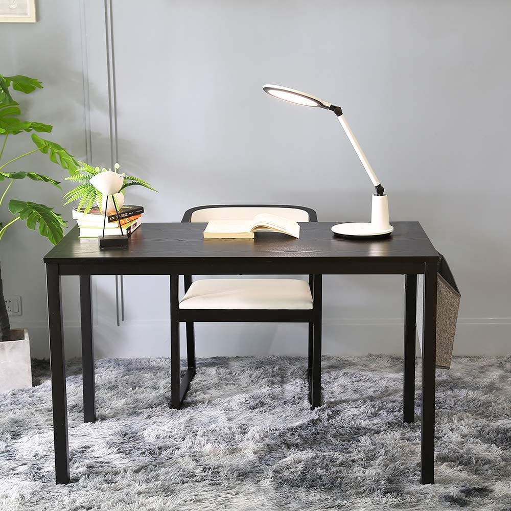 with Storage Bag and Hook Olive Black Metal Frame Ellenge Computer Desk 47 Home Office Writing Table Modern Style PC Laptop Study Workstation Gaming Table for Home Office