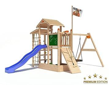 Klettergerüst Mit Nestschaukel : Spielturm bazzy boo von isidor mit nestschaukel anbau xxl