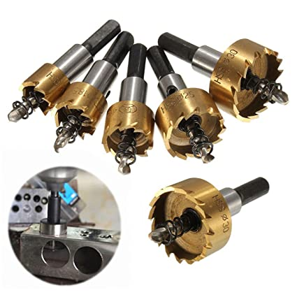 ... 5Pcs HSS Carbide Tip Hole Saw Tooth Cutter Drill Bit Hole Saw Kit Stainless High Speed Steel Metal Alloy Tool 16-30MM: Home Improvement