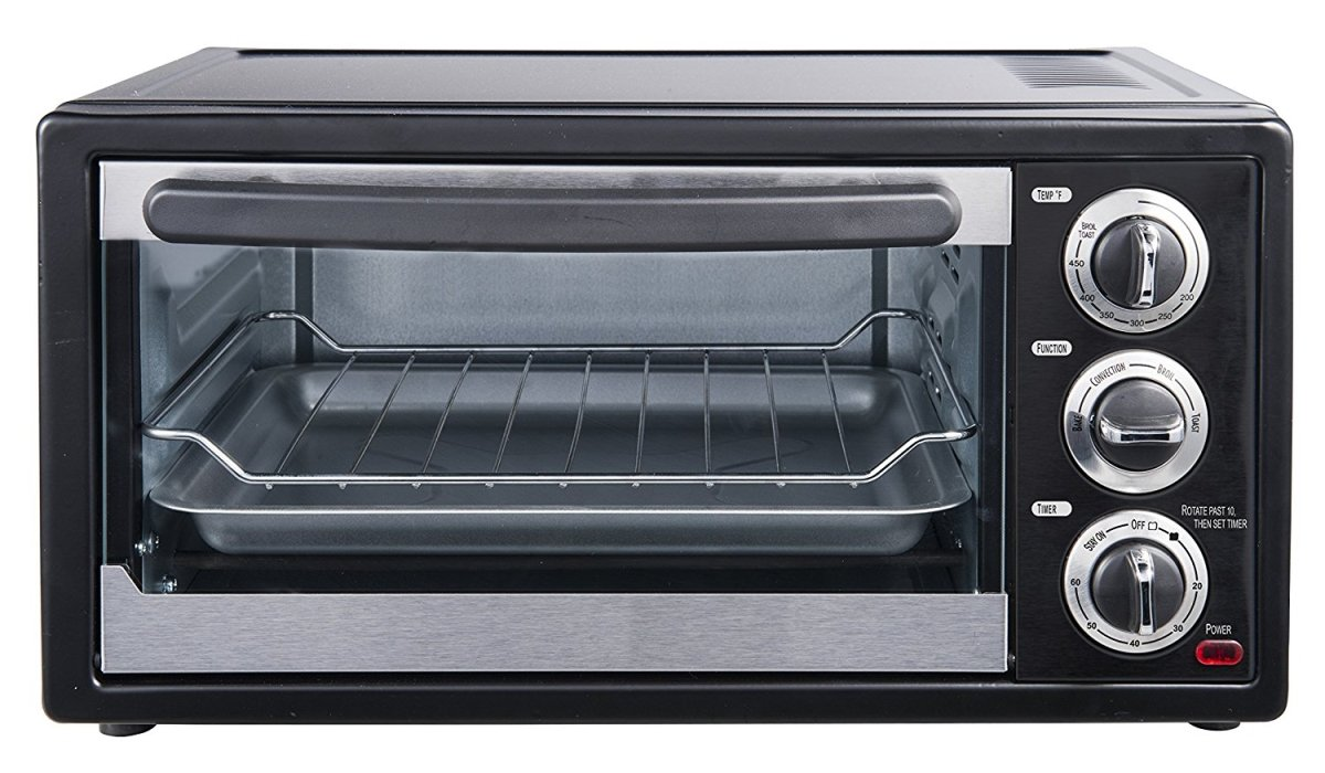 Courant 6 Slice Toaster Oven, with Broiler, Countertop Convection oven, Stainless Steel/Black