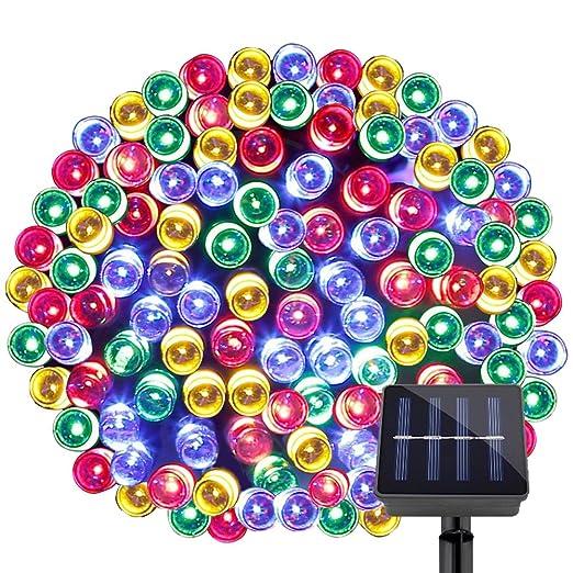 34 opinioni per LE Stringa Luminosa Solare 20m 200LEDs, 8 modalità Impermeabile Multicolore