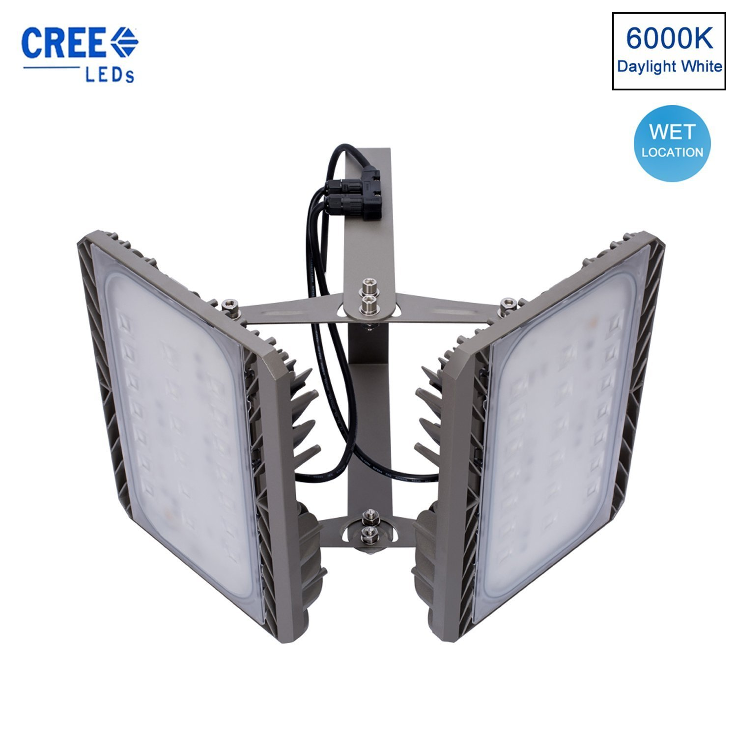 SOLLA 2-Head Led Flood Light Outdoor 200W CREE Security Lights 18000LM,6000K Daylight,Waterproof IP65 for Outdoor Floodlight Landscape Spotlight