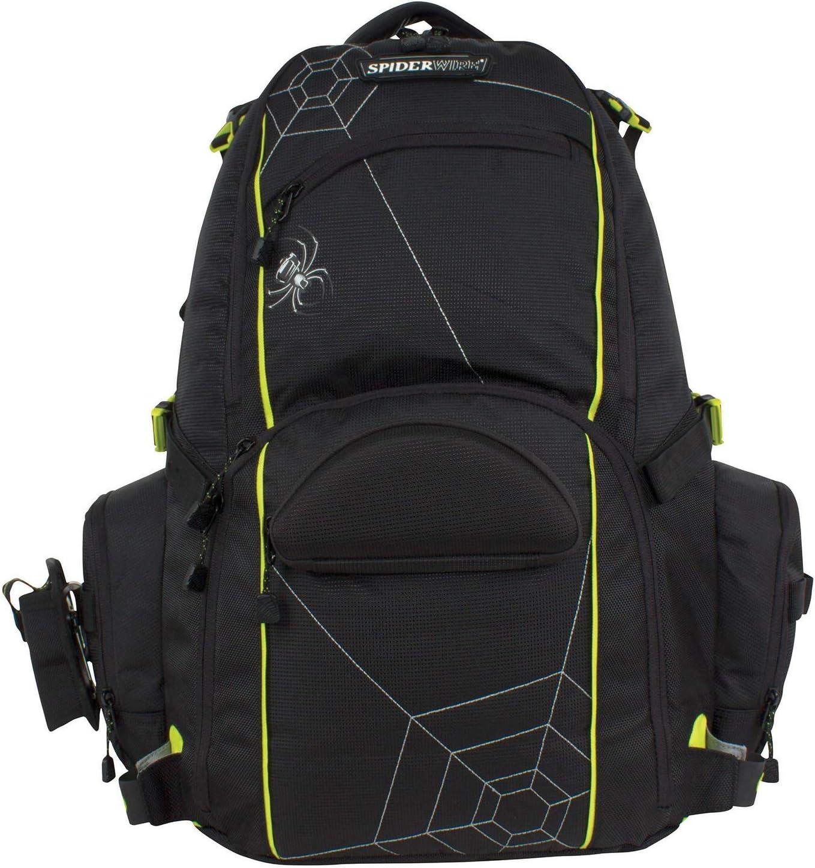 Spiderwire Tackle Backpack Fishing Rod Carry System Adjustable Bait Cooler Bag