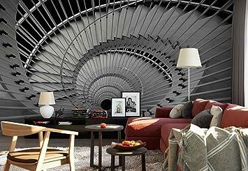 Papel Tapiz Fotomural - Escalera De Caracol Sin Fondo Abstracto - Tema Arquitectura - XL - 368cm x 254cm (an.
