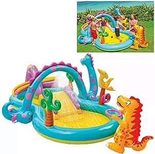 INTEX Dinoland Play Center Slide&Pool,Multi-Color,57135