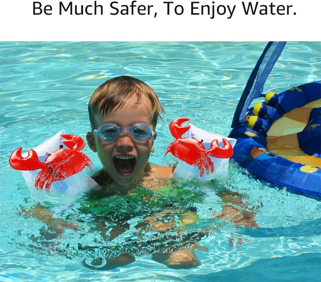 Zeraty Inflatable Arm Floats for Toddlers Kids Baby Floatation Sleeves Floats Tube Water Wings Swimming Floats Boys and Grils