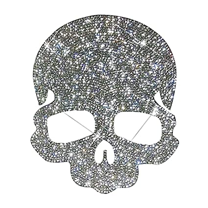 Amazon Com Ling S Boutique Tm Punk Style Skull Crystal Car