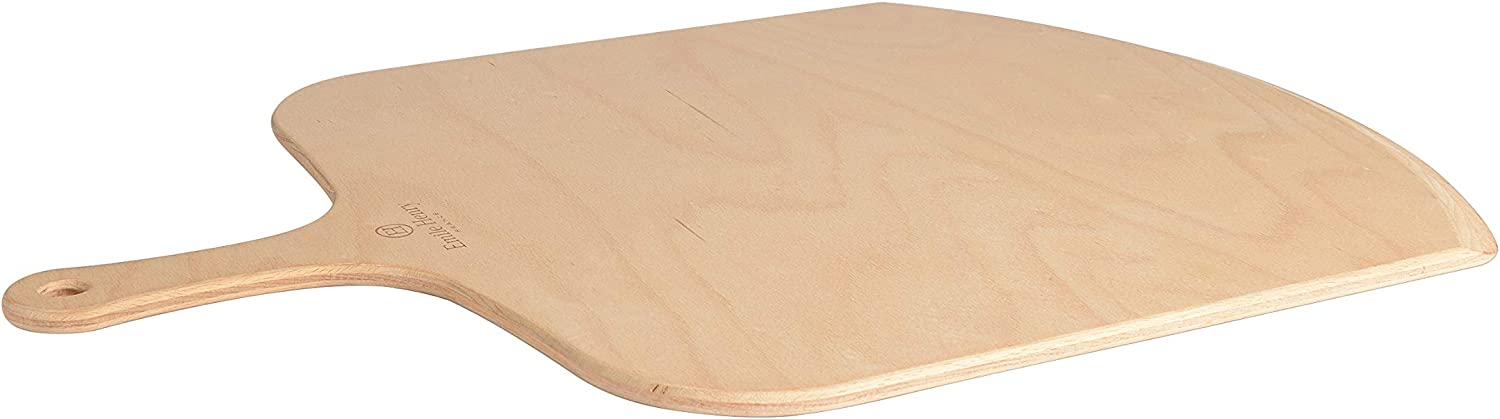 Emile Henry wood pizza peel, 18 in x 13 in