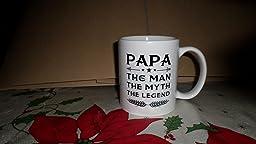 Amazon Com Muggiestm Papa Mug Gift For Dad And Grandpa