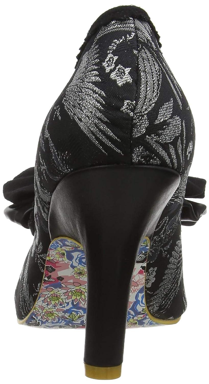 TALLA 40 EU. Irregular Choice Mal E Bow, Zapatos de tacón con Punta Cerrada para Mujer