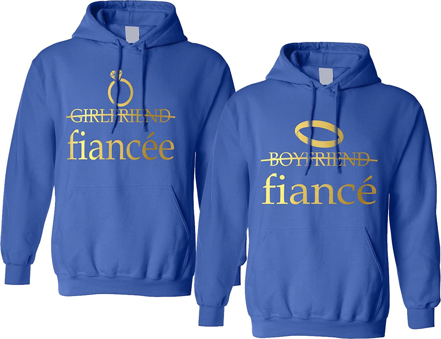 Allntrends Couples Adult Hoodie Fiancee Fiance Engaged Proposal Matching Tops