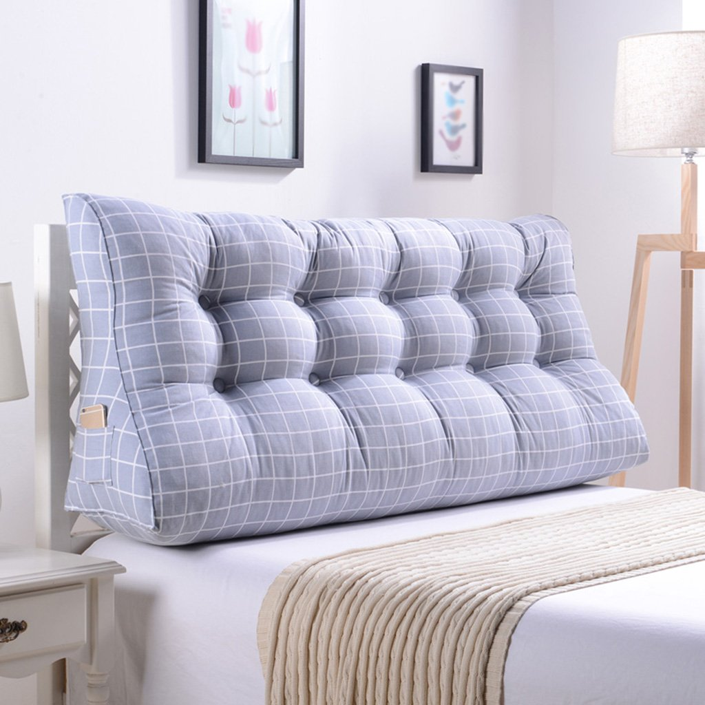 qiangzi respaldo almohada doble noche triángulo cojines almohada cabeza almohada cintura almohada sofá tapizado respaldo cama grande proteger la ...