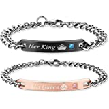 OBSEDE His And Her Bracciale In Acciaio Inox Coppia Fashion Matching Braccialetto (2pcs)