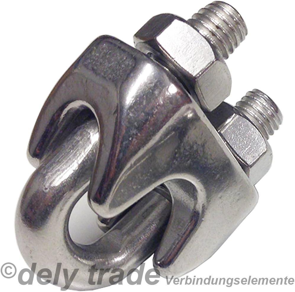 Lot de 10/bornes pour c/âble m/étallique pour d = 3/mm Forme Haute /ähnl DIN 741/Inox A4